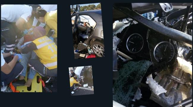 Bariyerlere çarpan otomobildeki çift öldü