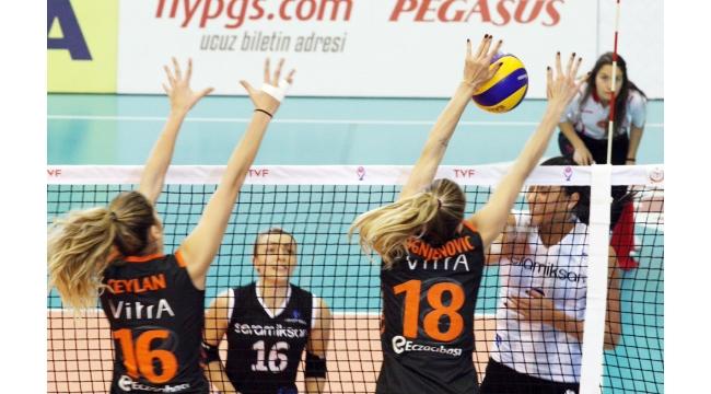Seramiksan dünya şampiyonu Eczacıbaşı'yı devirdi: 2-3