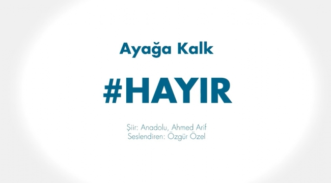 CHP'li Özgür Özel, Başkanlık teklifine 'Hayır' için sosyal medyada kendi seslendirdiği şiiri paylaştı.