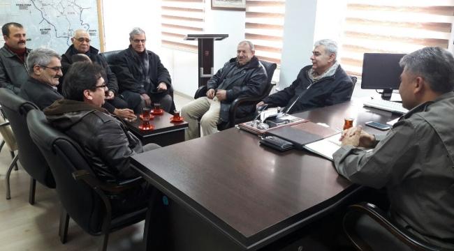 Şehit Yakınları ve Gazilerlerden yeni atanan İlçe Jandarma Komutanına ziyaret