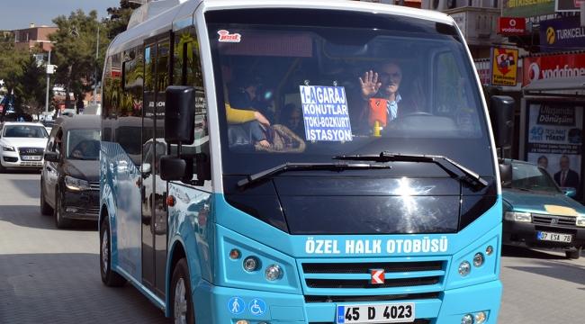 Halk otobüsleri hizmet vermeye başladı