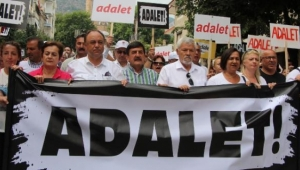 İzmir'den başlayan adalet yürüyüşü Manisa'da devam etti