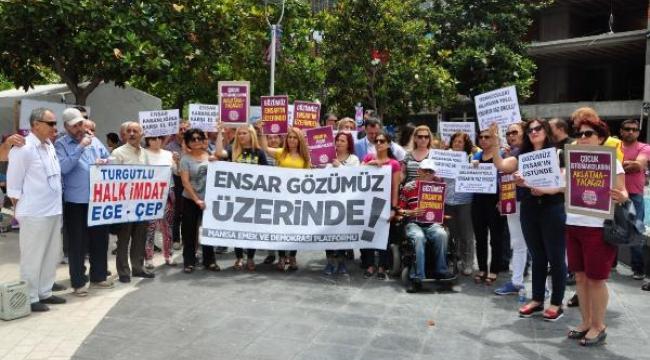 Manisa'da Ensar protestosu