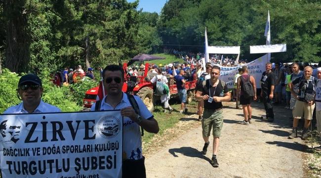 Turgutlu Zirve Dağcıları Marş Mira Yolunda Yürüdü