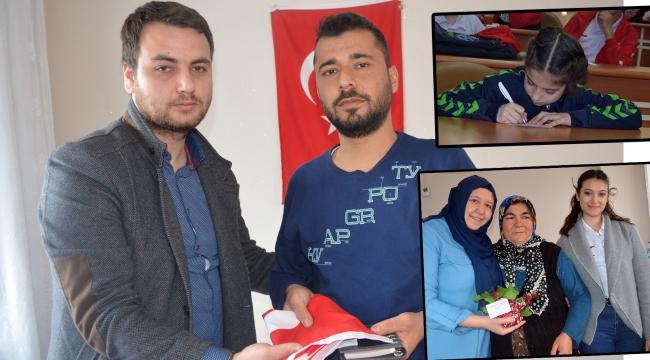 Gençlerin duyguları kitaplaştırılarak Afrin Gazisine hediye edildi