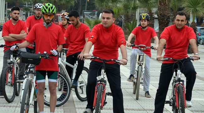Şehitleri bisiklet turu ile andılar