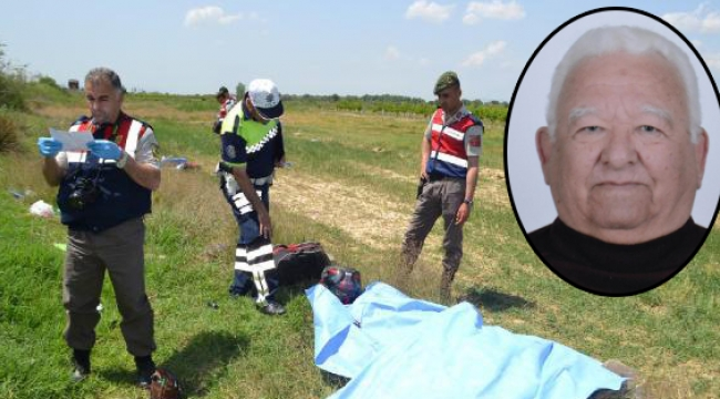 Tarlaya uçan motosikletin sürücüsü öldü