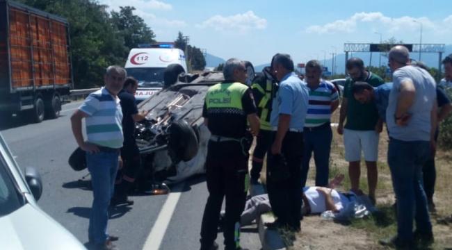 İzmir'de görevli Turgutlulu savcı ve eşi kazada yaralandı