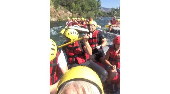 Turdak, Antalya, Köprülü Kanyon'da rafting yaptı