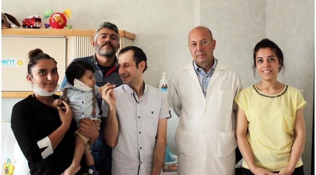 Turgutlulu babadan 11 aylık siroz hastası bebeğe yaşam hediyesi