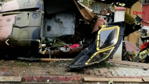 İstanbul'da helikopter düştü! 4 asker şehit oldu