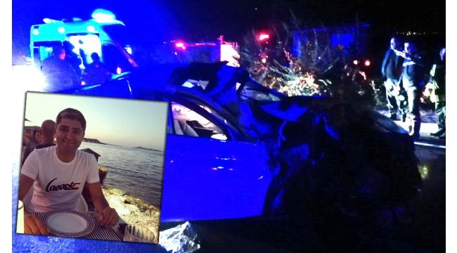 Otomobil TIR'a çarptı: 1 ölü 1 yaralı