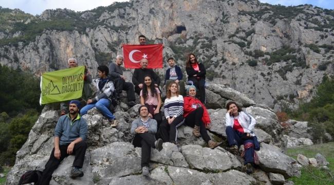 Olympos dağcıları Beşpınar - Ayvacık - Sülüklügölparkurundaydı