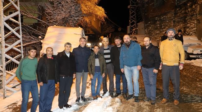 Başkan Şirin'den gece çıkarması