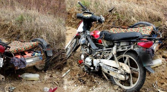 Kamyon, sepetli motosiklete çarptı: 1 ölü, 2 yaralı