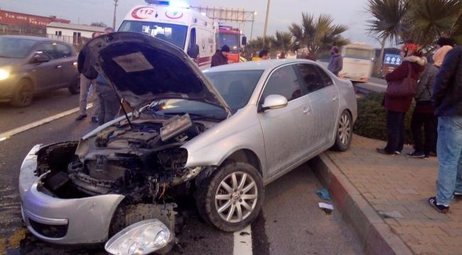 Turgutlu'da kaza: 8'i aynı araçtan 9 yaralı