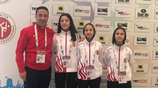 Akbey'in 3 sporcusu milli takımla uluslararası arenada