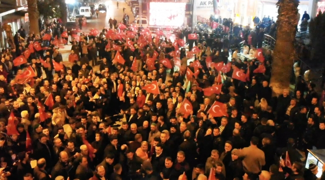 Turgutlu'da 'Cumhur İttifakı'nda ilk buluşma Drone ile görüntülendi VİDEO