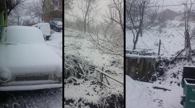 Turgutlu'nun kırsal mahallelerini beyaz örtü kapladı