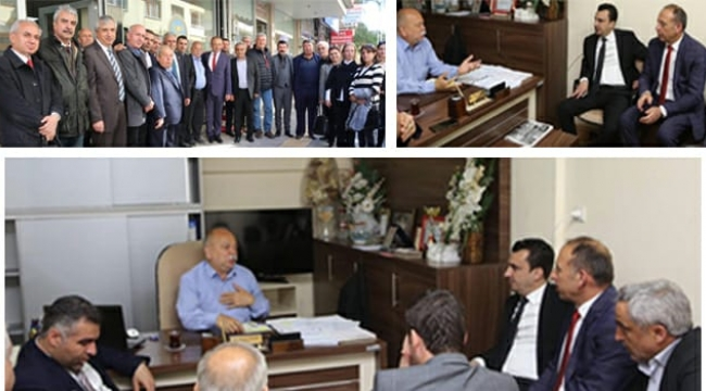 CHP'li Akın ve Milletvekili Başevirgen'den, Hasan Hüseyin Coşkun'a ziyaret