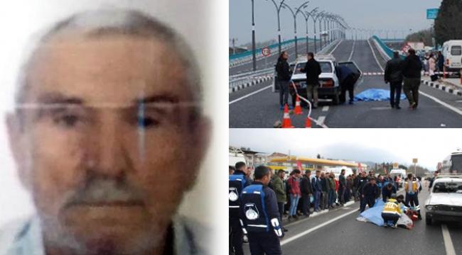 Yolun karşısına geçmek isterken otomobilin çarptığı yaşlı adam öldü