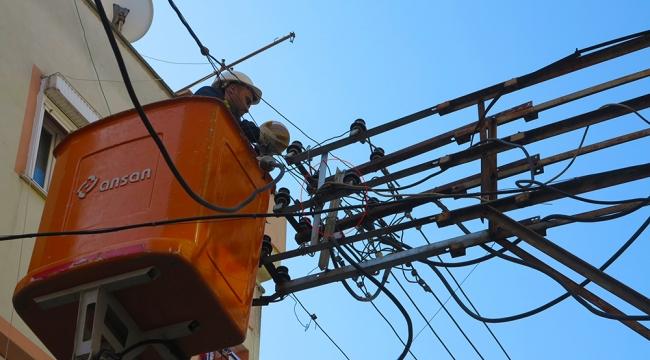 Yuvasından düşen yavru kuşu görevli elektrikçiler kurtardı