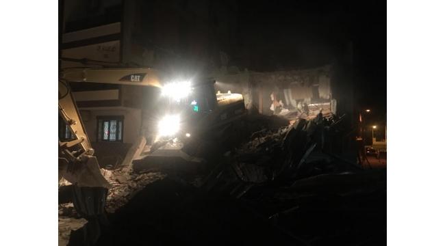 O bina yıkıldı