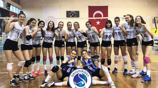 Seramiksan'ın küçük kızları şampiyonluk hedefinde