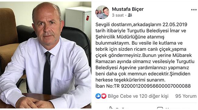 İmar ve Şehircilik Müdürlüğüne atanan Mustafa Biçer'den anlamlı çağrı