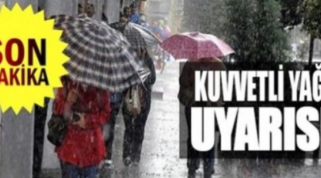 Meteoroloji yine uyardı; kuvvetli yağışlara dikkat!