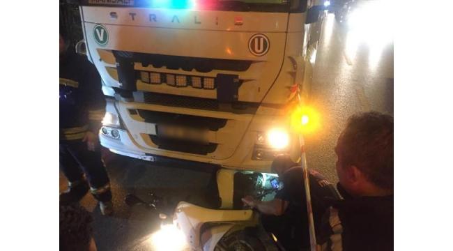 TIR'ın sürüklediği elektrik bisikletin sürücüsü öldü