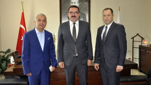 Kaymakam Turan'dan Adalet Komisyonu Başkanı Kuşçu'ya ziyaret