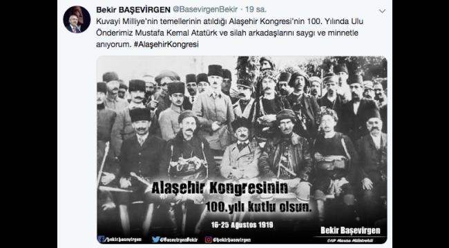 Başevirgen, Alaşehir Kongresinin 100'üncü yılını kutladı