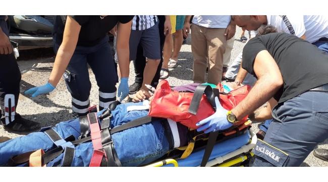 Otobüsle çarpışan otomobil hurdaya döndü: 1 yaralı