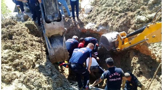 Toprak altında kalan 2 işçi sağ kurtarıldı