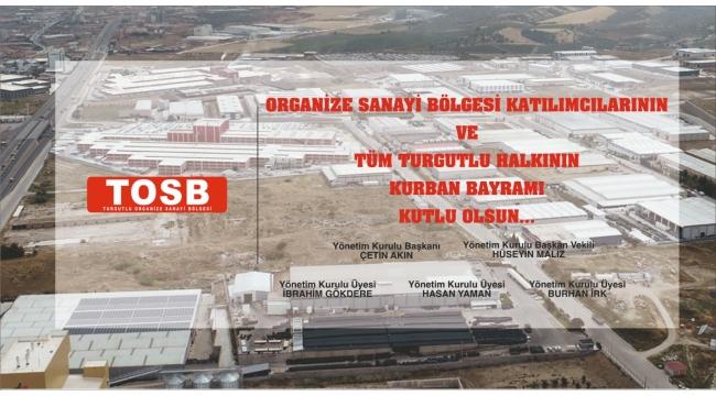 Turgutlu Organize Sanayi Bölgesi'nden Kurban Bayramı kutlama mesajı
