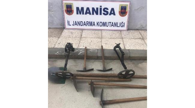 Antik kentte kaçak kazıya suçüstü: 4 gözaltı