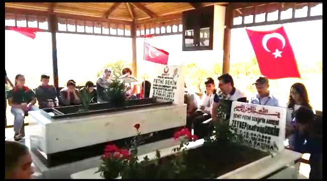 Turgutlulu öğrenciler, şehit polis Fethi Sekin'i unutmadı