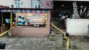 Akçapınar'da köy konağına silahlı saldırı