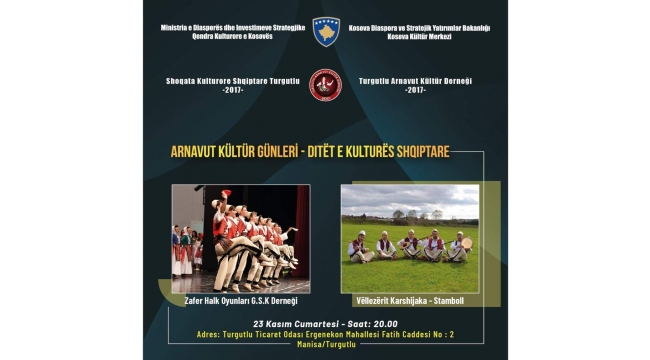 Arnavut Kültür Günlerine davet