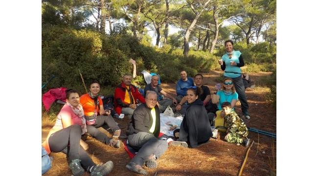 Olympos dağcıları Kozbeyli - Yeni Foça parkurundaydı