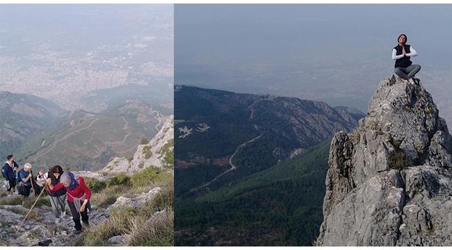 Olympos dağcıları Spil Dağı zirvesine tırmandı