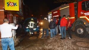 Turgutlu'da 3 araç yakılmak istendi, şüpheli yakalandı