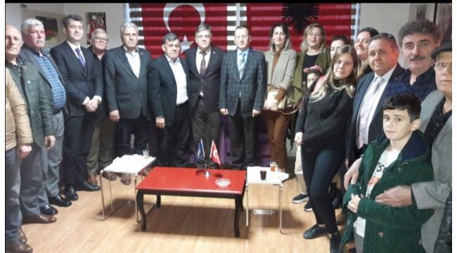 Arnavut Kültür Derneği, Kaymakam Yılmaz'ı ağırladı