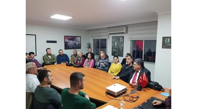 Başkan adayı Hüseyin Oğuz ve ekibi CHP'ye konuk oldu