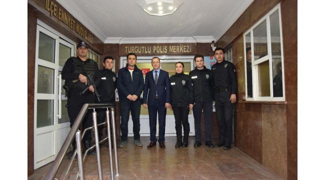 Kaymakam Yılmaz'dan Polis Merkezi Amirliği ziyareti