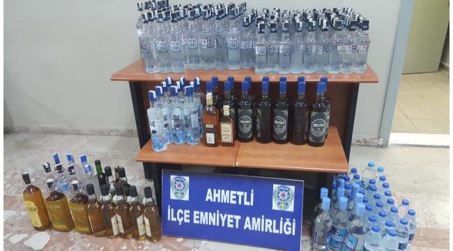 Polisten kaçak içki operasyonu