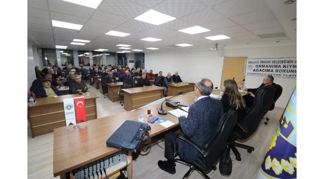 Turgutlu'da 'Çaldağı sorunu ve hukuk mücadelesi' toplantısı