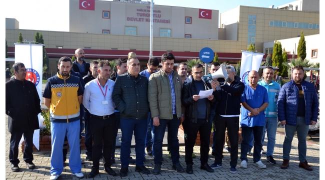 Turgutlu'da sağlık çalışanlarının 'döner sermaye' tepkisi