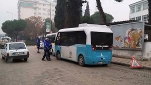 Turgutlu'da ulaşım denetiminde 16 araç şoförüne cezai işlem